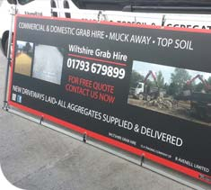 Hanging Banners deisnged, printed and supplied by Ideal Displays