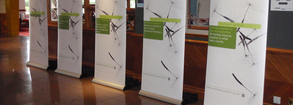 Roller Banners deisnged, printed and supplied by Ideal Displays