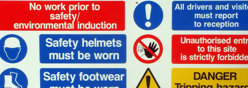 Health and Safety Signage supplied by Ideal Displays