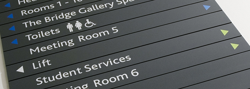 Internal Signage supplied by Ideal Displays